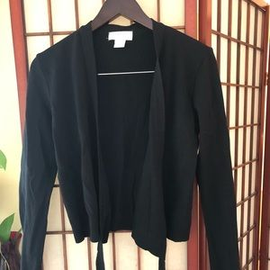 Express Tricot black wrap sweater 🍁🍂